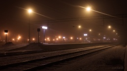 Train station in fog (2)