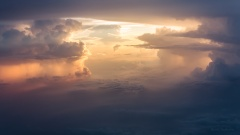 Cloud formation in sunset