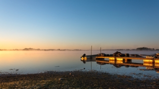Lake at sunrise